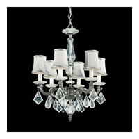 Schonbek Roma 6 Light Chandelier in Antique Pewter with Clear Rock Crystal 5496-47 photo thumbnail