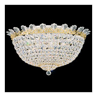 Schonbek Roman Empire 10 Light Flush Mount in Polished Gold and Clear Spectra Crystal Trim 3703-20A