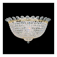 Schonbek Roman Empire 13 Light Flush Mount in Polished Gold and Clear Spectra Crystal Trim 3704-20A