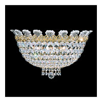 Schonbek Roman Empire 3 Light Wall Sconce in Polished Gold and Clear Spectra Crystal Trim 3708-20A