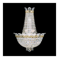 Schonbek Roman Empire 6 Light Wall Sconce in Polished Gold and Clear Spectra Crystal Trim 3710-20A