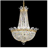 Roman Empire 10 Light 17 inch Heirloom Gold Chandelier Ceiling Light in Clear Spectra