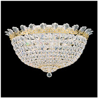 Roman Empire 10 Light 21 inch Heirloom Gold Flush Mount Ceiling Light in Clear Spectra