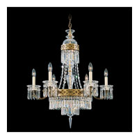 Schonbek Romanoff 8 Light Chandelier in Heirloom Gold and Clear Heritage Handcut (H) Trim 5715-22