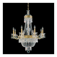 Schonbek Romanoff 10 Light Chandelier in Heirloom Silver and Clear Heritage Handcut (H) Trim 5716-44