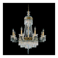 Schonbek Romanoff 10 Light Chandelier in Black and Clear Heritage Handcut (H) Trim 5717-51