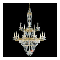 Schonbek Romanoff 20 Light Chandelier in Heirloom Gold and Clear Heritage Handcut (H) Trim 5718-22