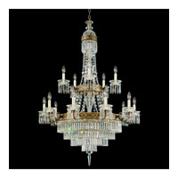 Schonbek Romanoff 20 Light Chandelier in Heirloom Bronze and Clear Heritage Handcut (H) Trim 5719-76