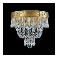 Schonbek Romanoff 4 Light Flush Mount in Heirloom Gold and Clear Heritage Handcut (H) Trim 5722-22
