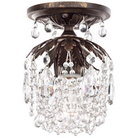 Rondelle 1 Light 6 inch Heirloom Bronze Semi Flush Mount Ceiling Light in Clear Vintage