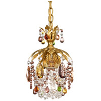 Rondelle 1 Light 6 inch Heirloom Gold Pendant Ceiling Light in Soft Jewel