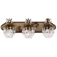 Rondelle 3 Light 8 inch Heirloom Bronze Sconce Wall Light in Clear Vintage