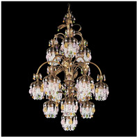 Rondelle 13 Light 28 inch Etruscan Gold Chandelier Ceiling Light in Soft Jewel