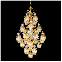 Rondelle 25 Light 34 inch French Gold Chandelier Ceiling Light in Topaz