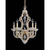 Schonbek Scheherazade 5 Light Chandelier in French Gold and Crystal Swarovski Elements Trim 9621-26