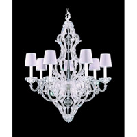 Schonbek Scheherazade 7 Light Chandelier in Silver Leaf and Crystal Swarovski Elements Trim 9622-48