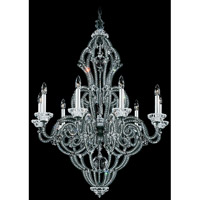 Schonbek Scheherazade 9 Light Chandelier in Black and Crystal Swarovski Elements Trim 9624-51