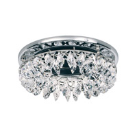 Schonbek Slices 1 Light Recessed Light in Stainless Steel and Crystal Swarovski Elements Trim SLR031S