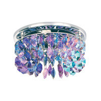 Schonbek Slices 1 Light Recessed Light in Stainless Steel and Orchid Swarovski Elements Trim SLR032ORC