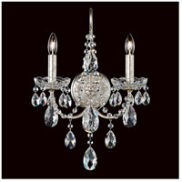 Schonbek ST1939N-48S Sonatina 2 Light 6 inch Antique Silver Wall Sconce Wall Light in Sonatina Swarovski