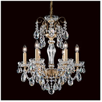 Schonbek ST1941N-76S Sonatina 6 Light 18 inch Heirloom Bronze Chandelier Ceiling Light in Clear Swarovski