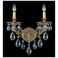 Schonbek Sophia 2 Light Wall Sconce in Florentine Bronze and Clear Spectra Crystal Trim 6942-83A
