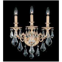 Schonbek Sophia 3 Light Wall Sconce in Parchment Gold and Clear Optic Handcut Trim 6943-27O photo thumbnail