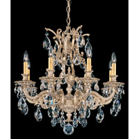 Schonbek Sophia 8 Light Chandelier in Parchment Gold and Clear Spectra Crystal Trim 6948-27A