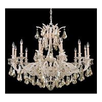 Schonbek Sophia 12 Light Chandelier in Provincial Gold and Golden Shadow Heritage Handcut Colors Trim 6952-85GS photo thumbnail