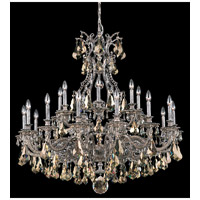 Schonbek Sophia 21 Light Chandelier in Royal Pewter and Golden Shade Heritage Handcut Colors Trim 6961-84TK photo thumbnail