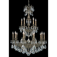 Schonbek Sophia 15 Light Chandelier in Midnight Gild and Clear Spectra Crystal Trim 6964-86A