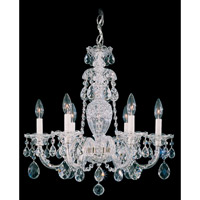 Schonbek Sterling 6 Light Chandelier in Silver and Clear Heritage Handcut (R) Trim 2994-40H