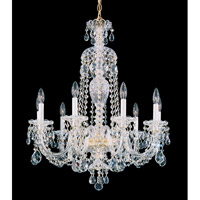 Schonbek Sterling 9 Light Chandelier in Gold and Clear Heritage Handcut (R) Trim 2996-20H
