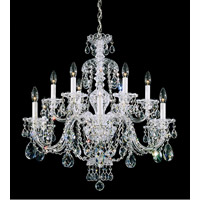 Schonbek 3601-40H Sterling 12 Light 29 inch Silver Chandelier Ceiling Light in Clear Heritage