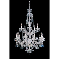 Schonbek Sterling 15 Light Chandelier in Silver and Clear Heritage Handcut (R) Trim 3608-40H