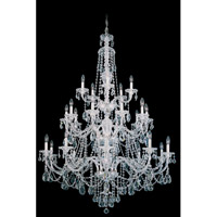 Sterling 25 Light 45 inch Silver Chandelier Ceiling Light in Clear Heritage Handcut, Polished Silver