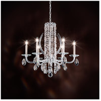 Schonbek RS8306N-06A Sarella 6 Light 25 inch White Chandelier Ceiling Light in Spectra