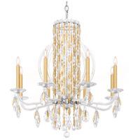 Schonbek RS8308N-22H Sarella 8 Light 30 inch Heirloom Gold Chandelier Ceiling Light in Heritage