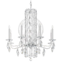 Schonbek RS8308N-06A Sarella 8 Light 30 inch White Chandelier Ceiling Light in Spectra