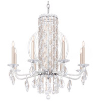 Schonbek RS8308N-48A Sarella 8 Light 30 inch Antique Silver Chandelier Ceiling Light in Spectra