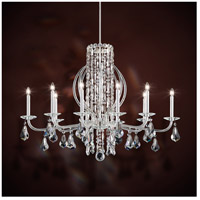 Schonbek RS8310N-401A Sarella 10 Light 25 inch Stainless Steel Chandelier Ceiling Light in Polished Stainless Steel, Clear Spectra