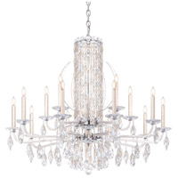 Schonbek RS8315N-48A Sarella 15 Light 41 inch Antique Silver Chandelier Ceiling Light in Spectra