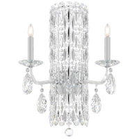 Schonbek RS8332N-401H Sarella 2 Light 10 inch Stainless Steel Sconce Wall Light in Heritage, Polished Stainless Steel