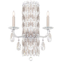 Schonbek RS8332N-48H Sarella 2 Light 10 inch Antique Silver Sconce Wall Light in Clear Heritage