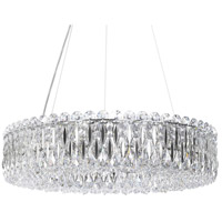 Schonbek RS8343N-401A Sarella 12 Light 24 inch Stainless Steel Chandelier Ceiling Light in Spectra, Polished Stainless Steel