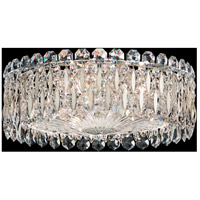 Schonbek RS8348N-48S Sarella 3 Light 16 inch Antique Silver Flush Mount Ceiling Light in Swarovski