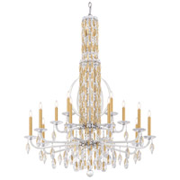 Schonbek RS8415N-06A Sarella 17 Light White Chandelier Ceiling Light in Spectra