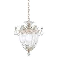 Bagatelle 1 Light 8 inch Antique Silver Pendant Ceiling Light in Clear Heritage