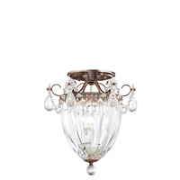 Bagatelle 3 Light 11 inch Heirloom Bronze Semi Flush Mount Ceiling Light in Clear Heritage