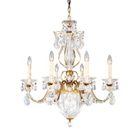 Bagatelle 7 Light 21 inch Heirloom Gold Chandelier Ceiling Light in Clear Heritage